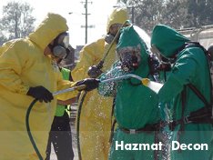 United field crew performs hazardous material decontamination services on-site