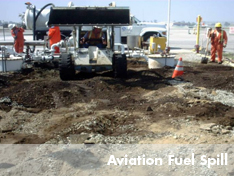 United field crew on-site for emergency aviation spill response