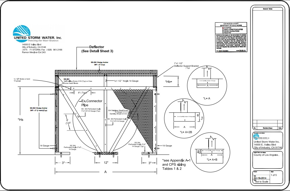 Connector Pipe Screen Drawings