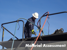 United field crew performs material assessment