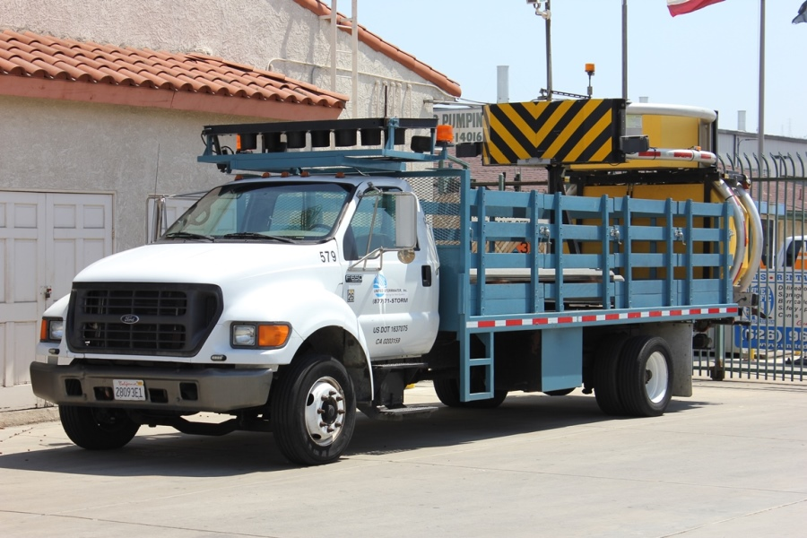 United Storm Water Stakebed Trucks